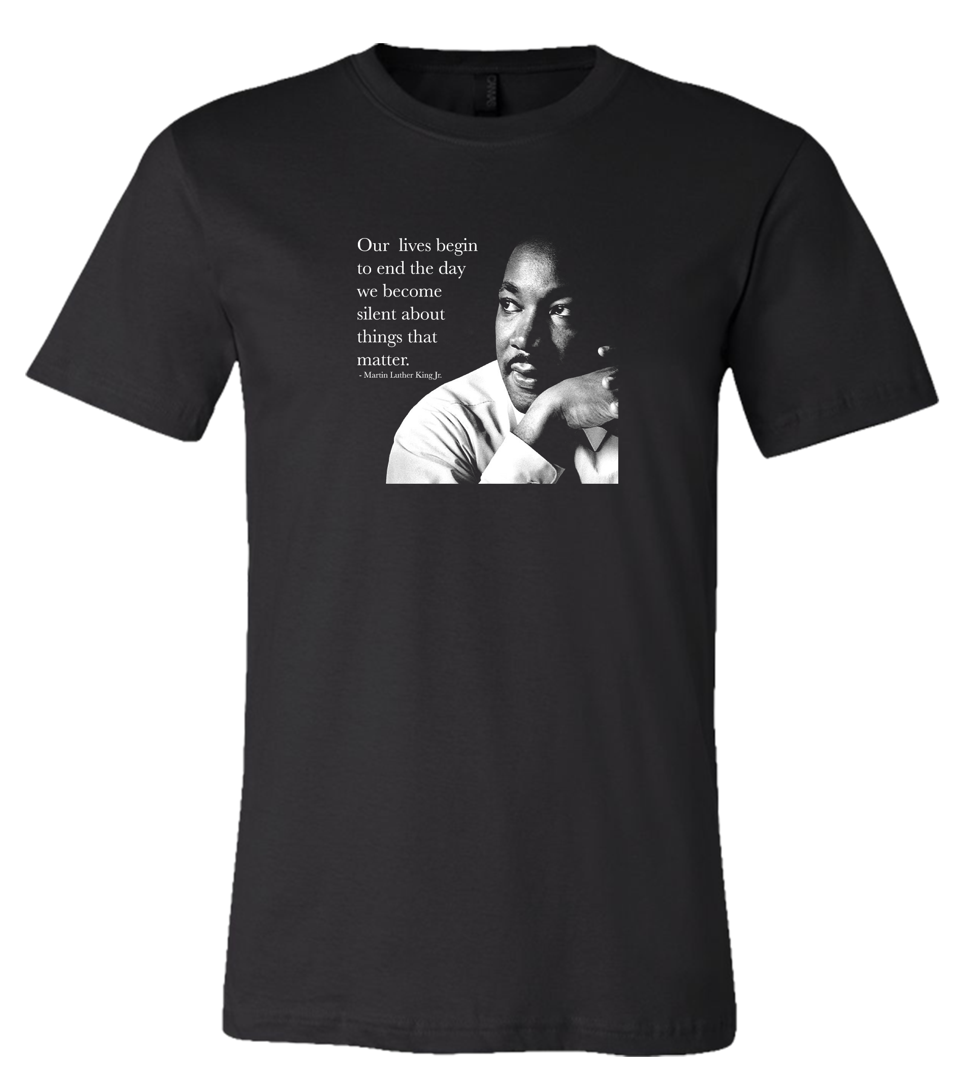 MLK - Our Lives Begin To End The Day We Become Silent About Things That Matter