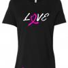 Breast Cancer Love Ladies T Shirt