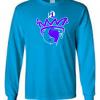 P1 Drip logo Sapphire blue long sleeves